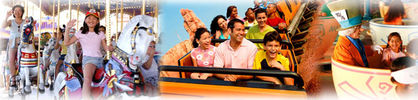 Families on Rides at the Popular Orlando Attractions